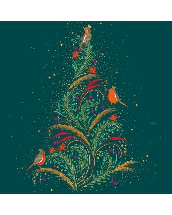 Sara Miller Robin Xmas Tree Boxed Christmas Cards