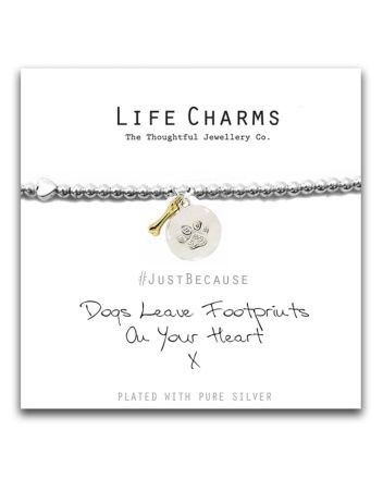 Life Charms - Dogs Leave Footprints on your Heart Bracelet