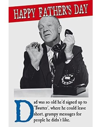 On-The-Ceiling Tw*tter Fathers Day Card