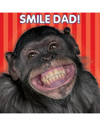 Mint 3D Chimp Dad Birthday Card