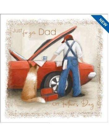 Nigel Quiney Kick Back Mechanic Fathers Day Card