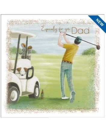 Nigel Quiney Kick Back Golfing Fathers Day Card