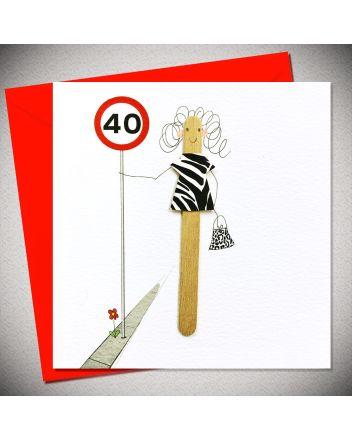 Bexy Boo Lolly Lush Pops 40th Birthday Card