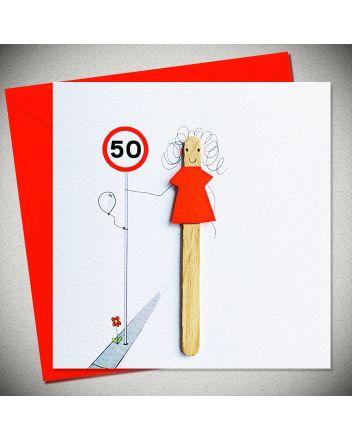 Bexy Boo Lolly Lush Pops 50th Birthday Card