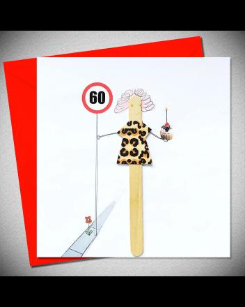 Bexy Boo Lolly Lush Pops 60th Birthday Card