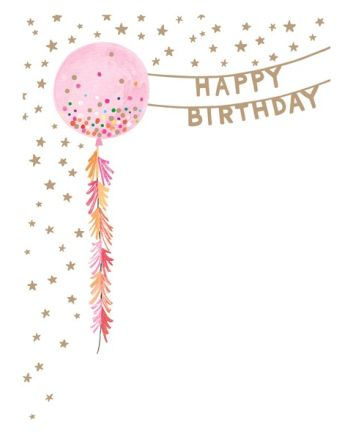 Paper Salad Lucky Star Balloon Birthday Card