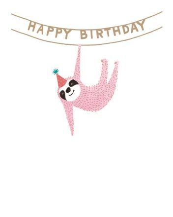 Paper Salad Lucky Star Sloth Birthday Card