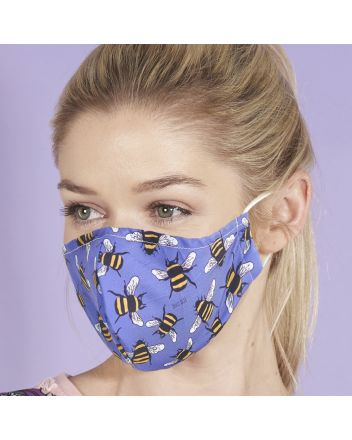 Eco Chic Blue Bees Reusable Face Covering