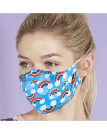 Eco Chic Rainbow Reusable Face Covering