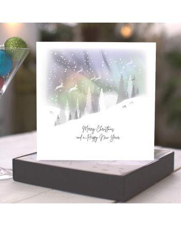 Five Dollar Shake Winter Magic Setting Sun Christmas Boxed Cards