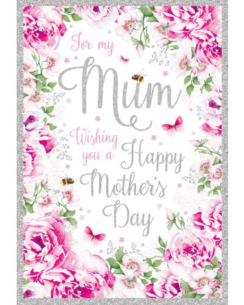 Nigel Quiney Pink Flowers Mothers Day Card