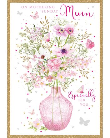 Nigel Quiney Pink Vase Mothers Day Card