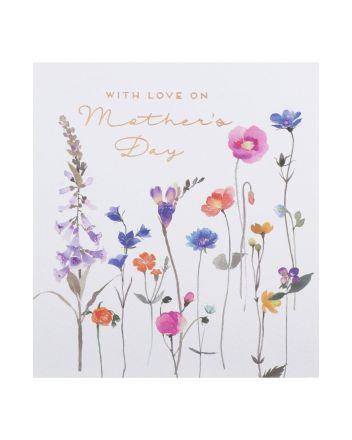 Paperlink Wild Flowers Mothers Day Card