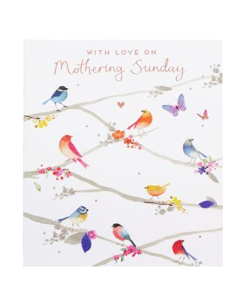 Paperlink Birds on Branches Mothering Sunday Card