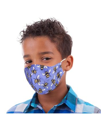 Eco Chic Mini Blue Bees Reusable Face Covering