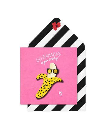 Tache Go Bananas Birthday Card