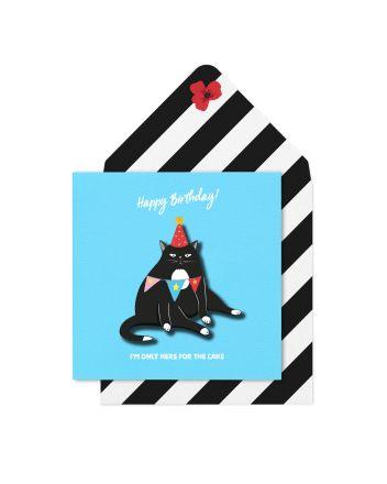 Tache Grumpy Cat Birthday Card