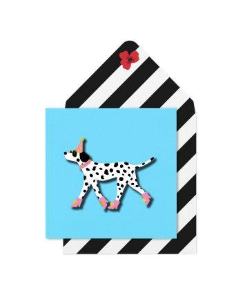 Tache Dalmatian in Boots Birthday Card