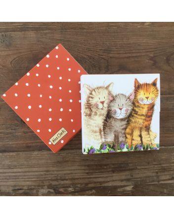 Alex Clark Three Amigos Cat Mini Notepad