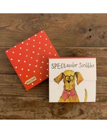 Alex Clark Spectacular Scribbles Dog Mini Notepad