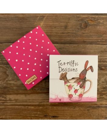 Alex Clark Tea-riffic Decisions Hare Mini Notepad