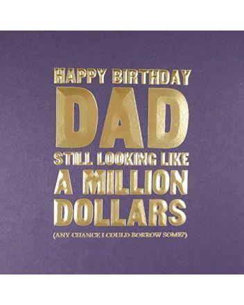 Five Dollar Shake Million Dollars Dad Birthday Card