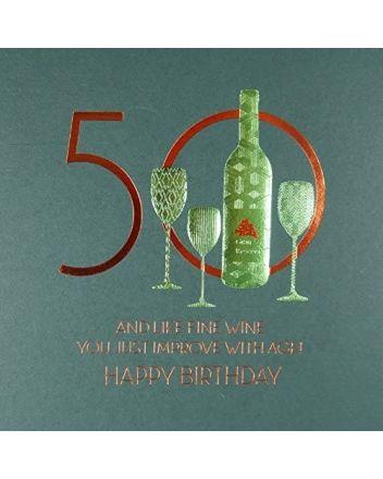 Five Dollar Shake Like Fine Wine 50th Birthday Card