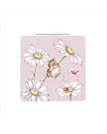 Wrendale Oops A Daisy Field Mouse Compact Mirror