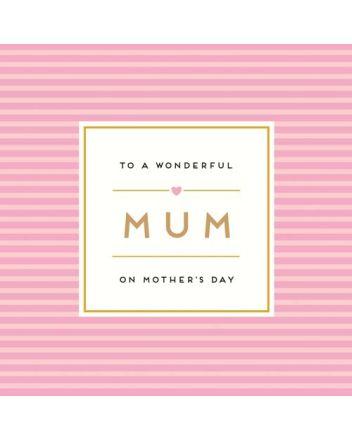 Alice Scott Wonderful Mum Mother's Day Card