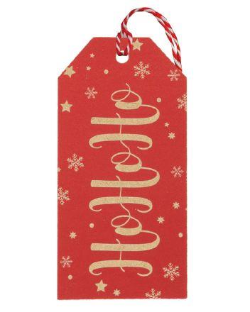 Glick 6 Red HoHoHo Christmas Gift Tags