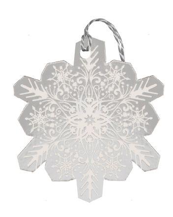 Glick 6 Silver Snowflake Christmas Gift Tags