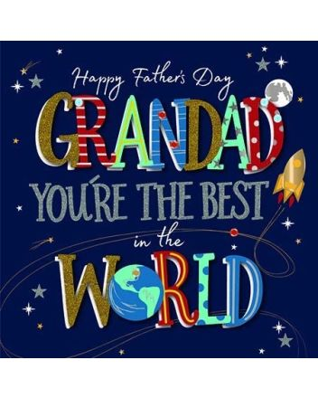 Ling Best Grandad in the World Fathers Day Card