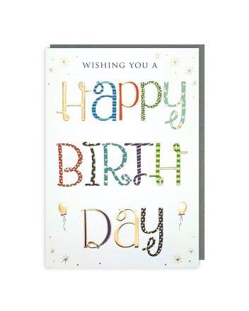 Tracks Sparkle Wishing You A Happy Birthday Card