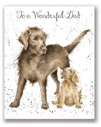Wrendale Wonderful Dad Dogs Greeting Card