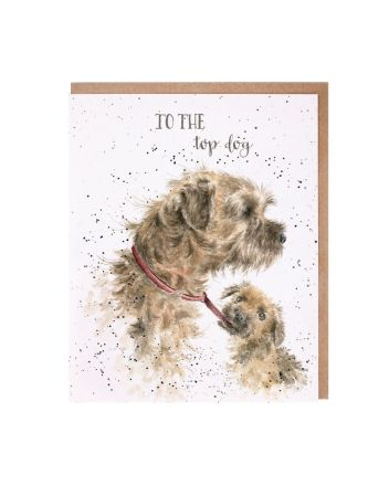 Wrendale Top Dog Greeting Card