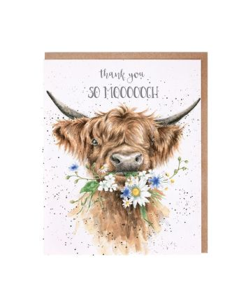Wrendale Daisy Coo Thank You Card