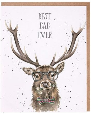 Wrendale Best Dad Ever Greeting Card