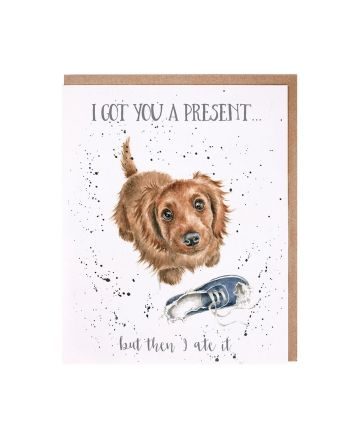 Wrendale Dog I Ate Your Present Birthday Card