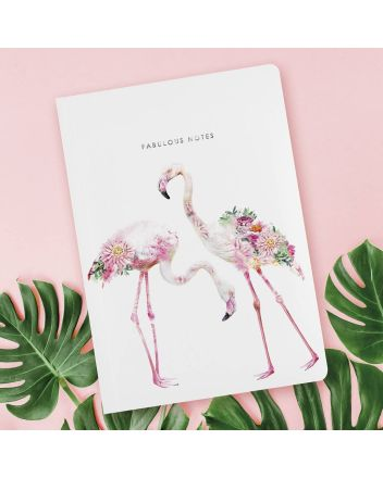 Luxury Notebook - Botanical Flamigo's