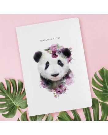 Luxury Notebook - Botanical Panda
