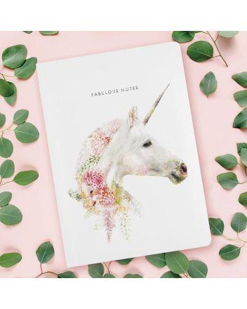 Luxury Notebook - Botanical Unicorn