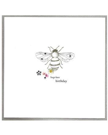 Cinnamon Aitch Piccadilly Bee Birthday Card