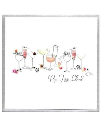 Cinnamon Aitch Piccadilly Pop Fizz Clink Birthday Card