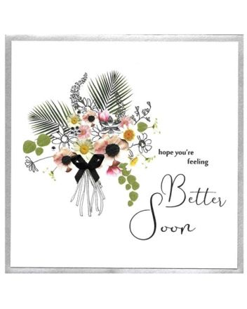Cinnamon Aitch Piccadilly Flower Bouquet Get Well Card
