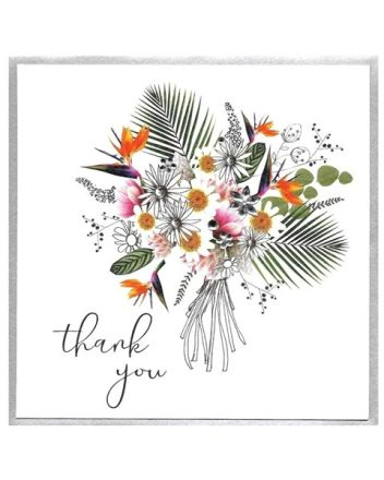 Cinnamon Aitch Piccadilly Flower Bouquet Thank You Card