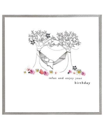 Cinnamon Aitch Piccadilly Hammock Birthday Card