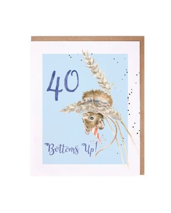 Wrendale Field Mouse 40th Birthday Card