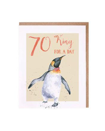 Wrendale Penguin 70th Birthday Card