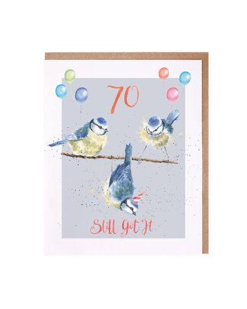 Wrendale Birds 70th Birthday Card