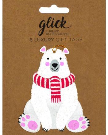 Glick 6 Luxury Polar Bears Christmas Gift Tags